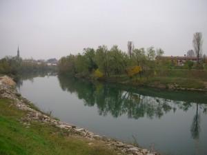 Vista del paese dall'ansa del fiume Brenta I
