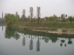 Vista di Campo San Martino dall'ansa Brenta III