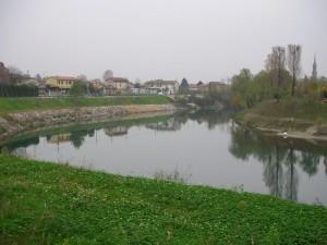 Vista di Campo San Martino dall'ansa Brenta IV