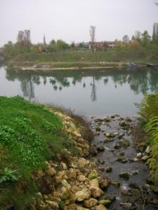 Vista di Campo San Martino dall'ansa Brenta V