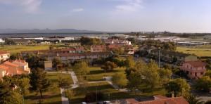 Panoramica di Oristano a S.O.