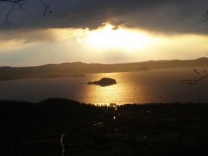 Lago di Bolsena al tramonto.