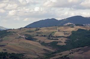 Ampio panorama vallata torrente Vella e Salcito