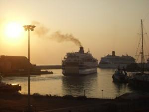 uno sguardo sul porto di Civitavecchia