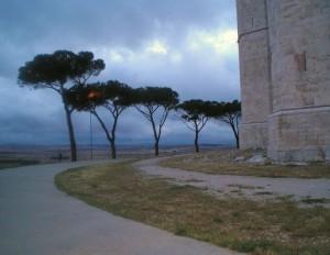 Il panorama da Castel Del Monte