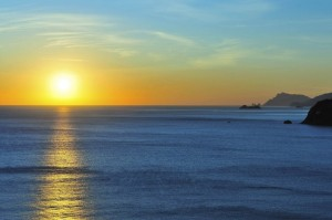 Magico tramonto in Costiera Amalfitana