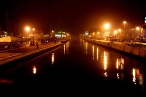 Porto Riccione……….. in una sera di nebbia