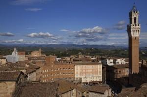 Sui tetti di Siena