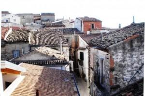 Panorama di case di Bovino