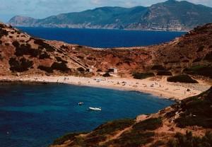 la spiaggia di Porto Ferro