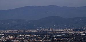 Da Carmignano….panorama su Firenze….