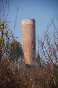 la torre cilindrica medievale di Montaldo Roero