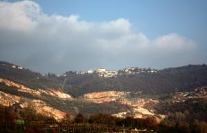 """Serle: panorama dalla """"Via del Marmo"""""""