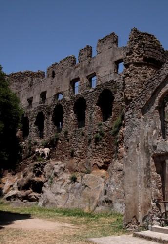 Canale Monterano - Ruderi del Castello di Monterano abbandonata