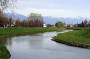 Oderzo attraversata dal fiume Monticano