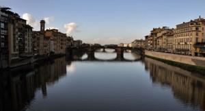 L'Arno da Pontevecchio verso le cascine