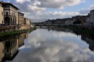 L'Arno da Ponte vecchio