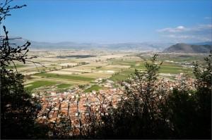 L'Altopiano del Fucino-ciò che resta di un lago (visto da Luco)