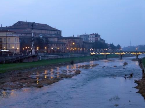 Parma - Parma e il suo Torrente dal Ponte delle Nazioni
