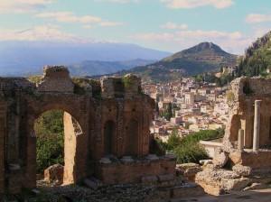 Vista dal Teatro Greco