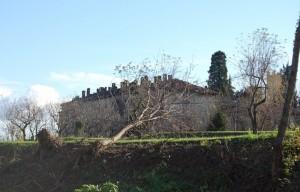 alle spalle del castello