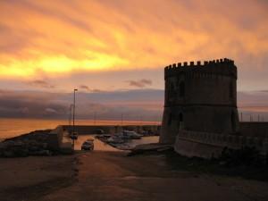 tramonto su torre vado