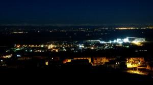 Dal balcone di Coniolo di notte