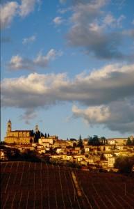 Vignale Monferrato al tramonto