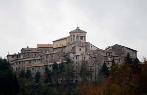 Capranica Prenestina dalla parte di Pisoniano