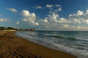 La spiaggia prima del Castello