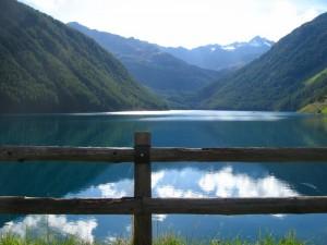 Il lago di Vernago, guardando verso Maso Corto