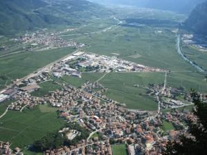 Veduta della Piana Rotaliana nella Val d'Adige