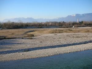 Nove - Panorama sul fiume Brenta verso le Alpi III