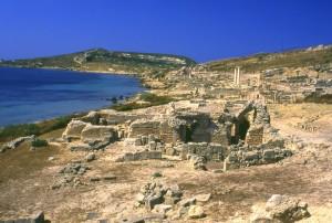Panorama della città romana Tharros.