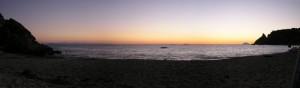 Capo Vaticano (VV), Spiaggia Grotticelle, Tramonto con le Isole Eolie sullo sfondo
