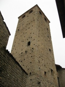Torre del castello di Varzi