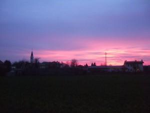 tramonto su sala