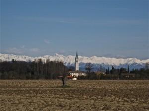 Ruda e la prima neve sui monti