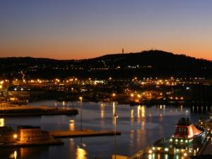 Ancona - Tramonto sul porto