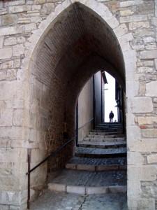 Arte gotica per chi entra.