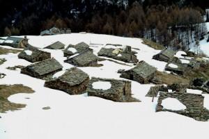 Le case dell'alpe Arcoglio