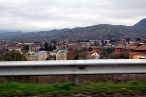 Lacedonia mentre ero in autostrada
