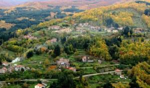 i colori autunnali della vallata di Montemignaio