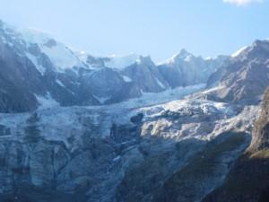 Il ghiacciaio del Monte Bianco
