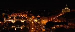 Dalla terrazza di Castel Sant'Angelo…