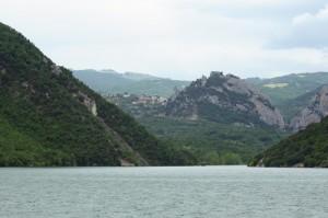 panorama dal lago di Bomba