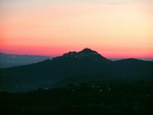 Montecelio al tramonto