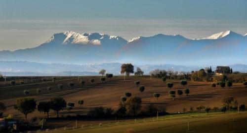 Morrovalle - vista dei sibillini