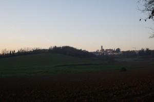 Castelletto Monferrato panorama con scie