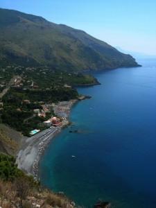 Visuale panoramica della costa Lucana